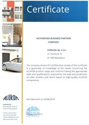 Certificate ALUKON